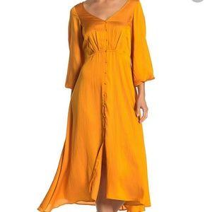 NWT FREE PEOPLE Later Days Midi Dress-Size 6